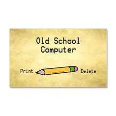 old school computer sticker Oval Rectangle Magnet Old School Computer Rectangle Magnet by Soge_Shirts - CafePress Funny Picture Quotes, Funny Pictures, Me Quotes, Funny Quotes, Funny Magnets, School Computers, Computer Humor, Laugh Out Loud, Old School
