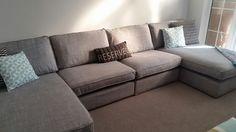 Ikea kivik sofa grey