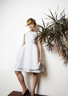 SS 2013 #ss13 #london #fashion #awake #nataliaalaverdian #trends #smart #dress #white