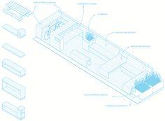 desenho do parklet paulistano projetado pelo parkl(it), que reúne a fábrica de design contain(it), a ong mobilidade verde e os estúdios de arquitetura superlimão, h2c e zoom