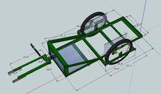 Trailer Construction Tips - Page 3 - Bike Forums Bike Cargo Trailer, Motorcycle Trailer, Cargo Trailers, Cargo Bike, Trailer Hitch, Bicycle Sidecar, Tricycle Bike, Teardrop Trailer Plans, Bike Cart