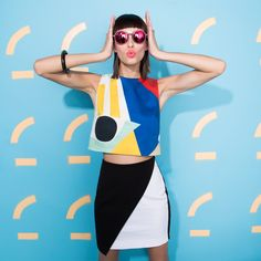 Geometry was never this fun in school. Margaux Brooke for #StartWithTheShades, #PopIntoColor Edition. #ComingSoon