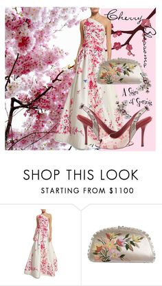 """""""A sign of Spring"""" by sjk921 ❤ liked on Polyvore featuring Monique Lhuillier, Judith Leiber and Louis Vuitton"""