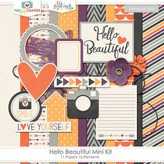 Quality DigiScrap Freebies: Hello Beautiful mini kit freebie from The Digi Crafter