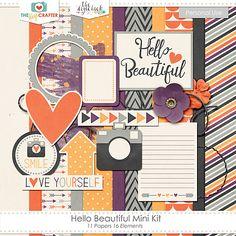 Quality DigiScrap Freebies: Hello Beautiful mini kit freebie from The Digi Crafter