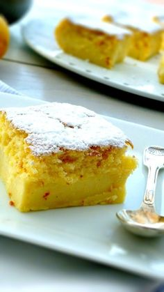 "Recipe for the fabulous ""Moelleux au Citron"" - # - Ensalada Marisco Ideas Thermomix Desserts, Köstliche Desserts, Delicious Desserts, Yummy Food, Lemon Recipes, Sweet Recipes, Cake Recipes, Dessert Recipes, Food Cakes"