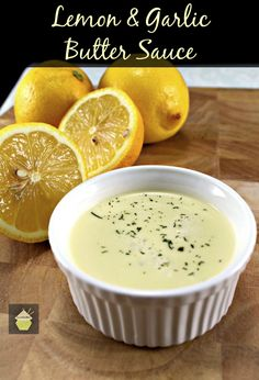Lemon and Garlic Butter Sauce. This is delicious served with seafood, fish, chicken or pork. Very easy and quick to make too!
