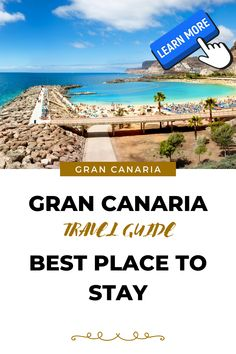 In this article, my list of the sunniest resorts to stay in Gran Canaria. Romantic Vacations, Most Beautiful Beaches, Canary Islands, White Houses, Tropical Garden, Tenerife, Holiday Destinations, Far Away, Where To Go