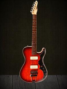 "Bootlegger Guitar ""The Hounder"" Cherry Vintage Style Rockin Axe"