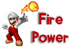 """Mario Kart -- Fire Power Label    I printed this in a 4X6 and put it in a frame to label the canister full of fire ball candy on the Power Up Buffet!    I got the fireballs from Sam's but my initial idea was to have red gumballs. Unfortunately, I forgot the gumballs and went with the hot candy. No harm done, every kid wanted nothing to do with it when is said, """"this is HOT"""". :)"""