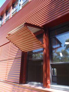 German International School, Sydney, Australia   The Ellisse…   Flickr Detail Architecture, Interior Architecture, Shed Plans, House Plans, Metal Facade, Casas Containers, Building Exterior, Door Design, Cladding