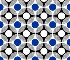 UK Mod Blue Bullseye by Su_G fabric by su_g on Spoonflower - custom fabric