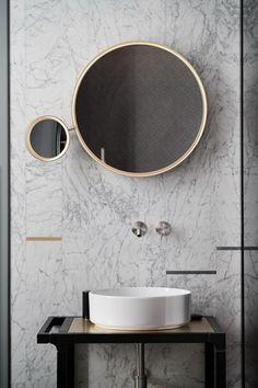 15 Inspiring Marble Bathroom Sink Designs For Your Luxury Home - Home Design - lmolnar - Best Design and Decoration You Need Bathroom Sink Design, Modern Bathroom Design, Bathroom Interior Design, Decor Interior Design, Interior Decorating, Master Bathroom, Master Baths, Bathroom Designs, Interior Mirrors