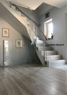 Habillage d'un escalier béton quart tournant en rénovation Artzenheim 68320