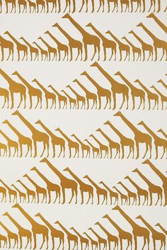 Since we've made it a point to embrace wallpaper, we can't get enough of this gold giraffe print ($348). Since it's expensive, we could just...