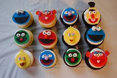 sesame street fondant cupcakes