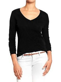 Womens Relaxed Slub-Knit V-Neck Tees - love this tee from old navy!  I have 5, just bought 2 more!