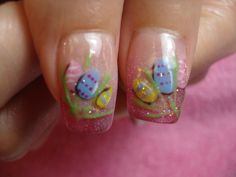 Easter Eggs nail design using Entity One Color Couture Gel Enamel.