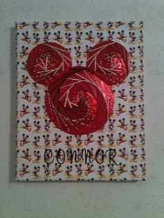 mickey mouse - ha!! This was given to me as a baby shower gift for Connor!