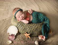 Newborn Mermaid Blanket Knitting Pattern Baby by MelodysMakings