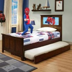 LightHeaded Beds Shaker Bed with Trundle and Changeable Back-Lit LED Headboard Imagery $602.27 by Wayfair