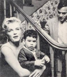 Marilyn with photographer Milton Greene & son joshua. Marilyn lived with Milton & his family when she first moved to New York