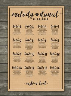 10 off with coupon code pin10 rustic wedding seating chart sign simple printable wedding seating chart sign with kraft paper texture custom colors and sizes available fandeluxe Choice Image