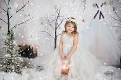 Winter Wonderland ~ Love this Photography Backdrop from Baby Dream Backdrops.