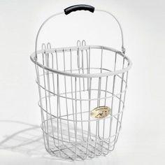 Nantucket Bike Basket Co. Surfside Rear Wire Pannier Basket - White - T/042/R