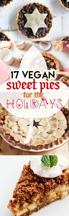 17 Vegan Sweet Pies for the Holidays! Especially perfect for Thanksgiving by My Wife Makes