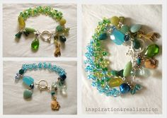 inspiration and realisation: DIY fashion blog: DIY bracelets: Wonderful clusters of beads and charms.