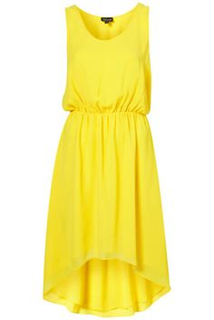 Dip hem yellow dress
