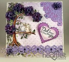 Heartfelt Creations | Loving Owls Purple Tree