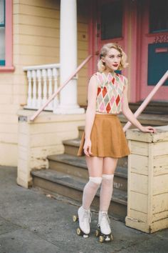roller skates suede skirts - Google Search