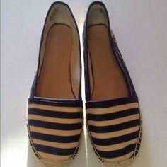 "Pre-Loved Franco Sarto Espadrilles Franco Sarto ""A-Whip"" Espadrilles.  Size: 9 1/2 Medium Color: Midnight Stripe.  Worn twice.  In excellent condition. Trades Lowballs Franco Sarto Shoes Espadrilles"