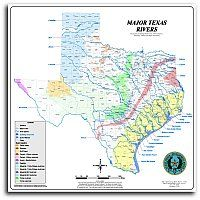 I want this map. Wish I could find a more detailed one with just all the rivers in Texas though. Bike Trails, Hiking Trails, Wall Maps, Beach Camping, Best Hikes, Travel And Tourism, Horseback Riding, Rivers, Geology