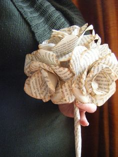 Book Paper Bridal Wedding Bouquet bridal bouquet by ABespokeTouch, $55.00
