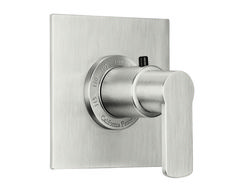 """Arpeggio StyleTherm® 3/4"""" Thermostatic Trim Only -  all brass construction 100° F safety stop button with manual override 5-1/4"""