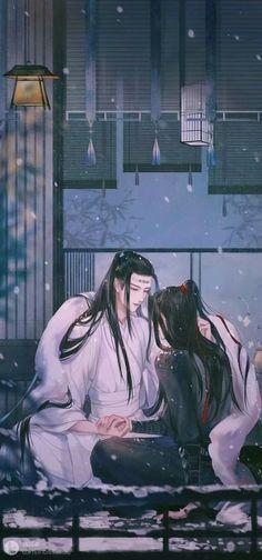 """Lan Wangji and Wei Wuxian from """"Mo Dao Zu Shi"""" Anime Love, Anime Guys, Manga, Animes Wallpapers, Chinese Art, Asian Art, Amazing Art, Chibi, Pokemon"""
