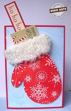 Mitten card - gift card holder.  The cuff is so cute.