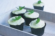 Mint cupcakes Baking expert Fiona Cairns says: 'I love the contrast between chocolate cake and this pale mint buttercream.' Follow this easy recipe to see how it's done