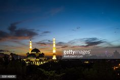 Stock Photo : Sunrise over The Federal Territory Mosque