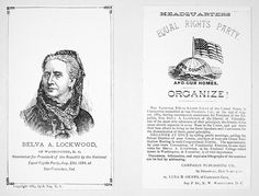 Belva Lockwood for President, 1884: A Woman in a Man's World | Trax on the Trail