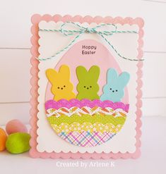 Easter card. SSS balloons, Twisted Stitch Borders, My Kind Of Peep. #SSSFAVE