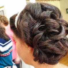 Prom hair by Amy Alesia 4436738160 www.pinupsalongirl.com