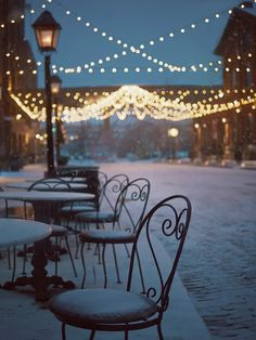 Cafe lights in the snow seem like the perfect scene from a Parisian night! - Bianca Ramirez - - Cafe lights in the snow seem like the perfect scene from a Parisian night! Cafe lights in the snow seem like the perfect scene from a Parisian night! Winter Christmas, Christmas Lights, Christmas Time, Winter Snow, Merry Christmas, Cozy Winter, Winter Coffee, French Christmas, Illumination Noel