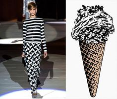 Marc Jacobs and Straccitatella Ice cream