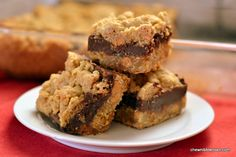 Butterscotch Oatmeal Fudge Bars - Chew Nibble Nosh