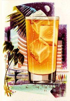 Tom Collins,1956. Vintage Cocktails, Classic Cocktails, Modern Retro, Retro Art, Cocktail Weenies, Tom Collins, Hooch, Bar Art, Retro Illustration