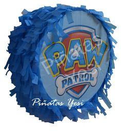 Piñata artesanal hecha a mano al estilo tradicional mexicano de Chase de La Patrulla Canina